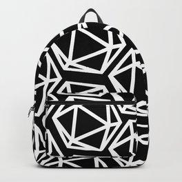 D20 Pattern - White & Black Backpack