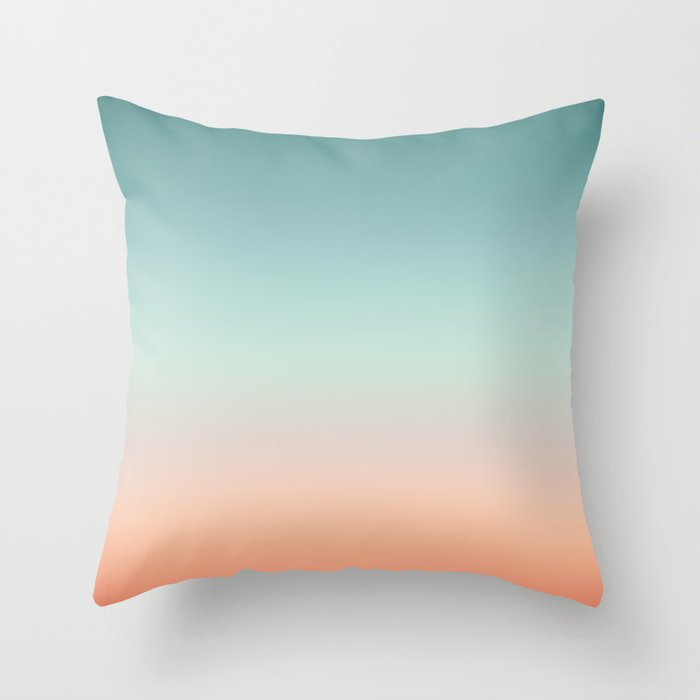 Color gradient background - fading sunset sky colors Throw Pillow