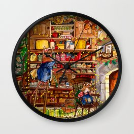 Christmas with Mice Wall Clock