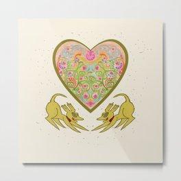 Doggie Heart  Metal Print