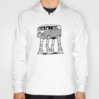 volkswagon Hoodies featuring VW Minibus AT-AT Walker by robotface