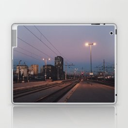 Sunset railway town Laptop & iPad Skin