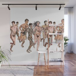 Naked Runners Wall Mural