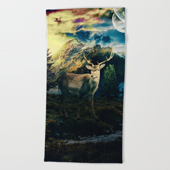 Deer VI Beach Towel
