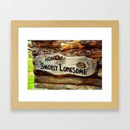 Smokey Lonesome Sign - Clean Framed Art Print