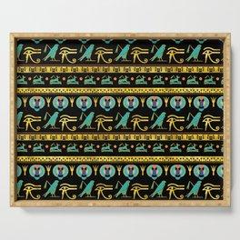 Egyptian  Ornament Symbols Pattern Serving Tray