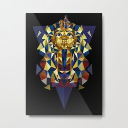 Golden Tutankhamun - Pharaoh's Mask Metal Print