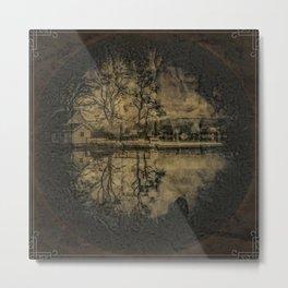 Lake Houses Metal Print