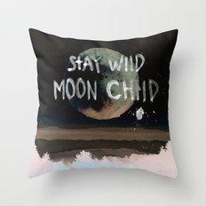 Stay wild moon child (vintage) Throw Pillow