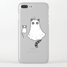 Cat Ghost & Mouse Ghost – Nightmare Clear iPhone Case