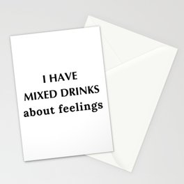Mixed Drink Feelings Stationery Cards