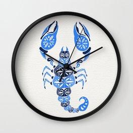 Blue Scorpion Wall Clock