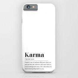 Karma Definition iPhone Case