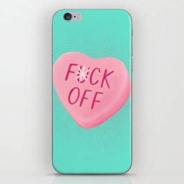 Fuck Off Candy Heart iPhone Skin