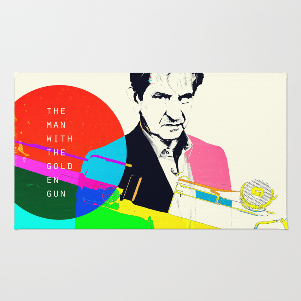 The Man With The Golden Gun Rug by Aleczg RUG873010