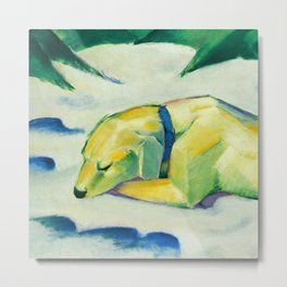 "Franz Marc ""Dog Lying in the snow"" Metal Print"