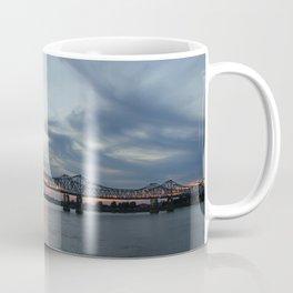 Natchez Bridge At Sunset Coffee Mug