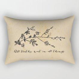 Walt Whitman - All truths Rectangular Pillow