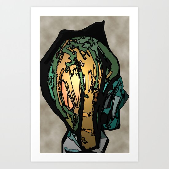 A Topographical Portrait Art Print