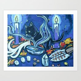 Black Cats Alter Art Print