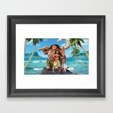 Moana 3 Framed Art Print