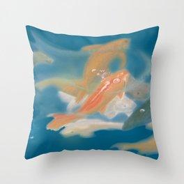 koi {blue} Throw Pillow