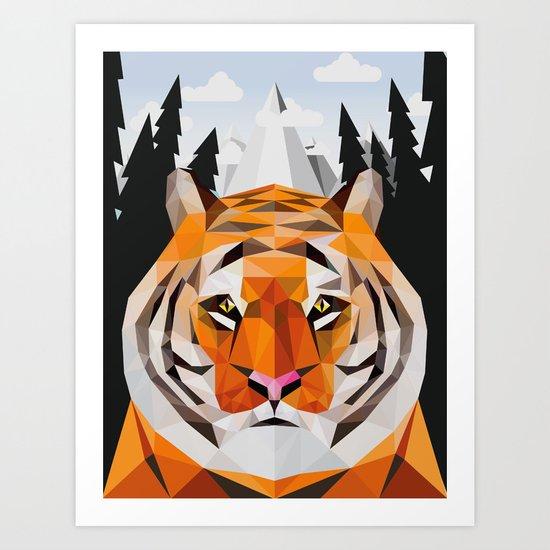 The Siberian Tiger Art Print