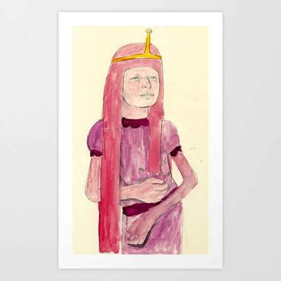 Princess Bubblegum Art Print