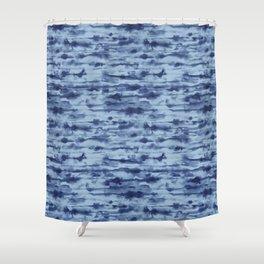 Stratus Denim Shower Curtain