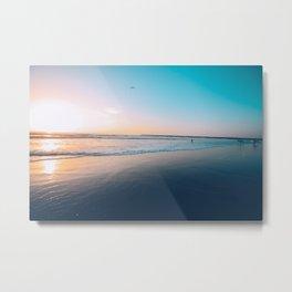 Pacific Ocean Sunset Colors Metal Print