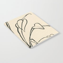 Line drawing leaves Notebook
