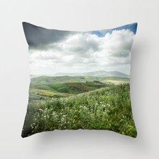 Hills of Sicily Throw Pillow