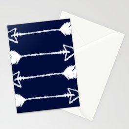shibori arrows Stationery Cards