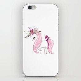 Cute Unicorn Lady iPhone Skin