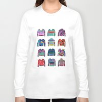 sweater Long Sleeve T-shirts featuring Sweater Poster by Valeriya Volkova