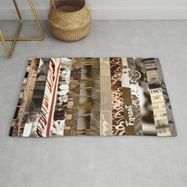Brown Intersections Rug