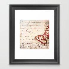 red winged Framed Art Print