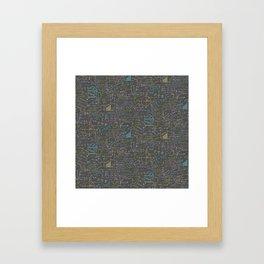 Math Lesson Framed Art Print