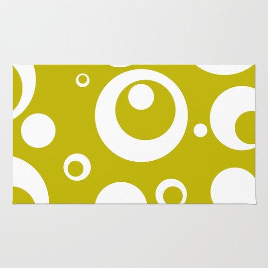 Circles Dots Bubbles :: Citron Rug