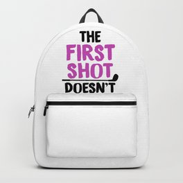 Golf Humor The First Shot Doesn't Count Golfer Gift Backpack