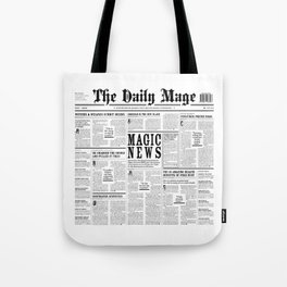 The Daily Mage Fantasy Newspaper Tote Bag