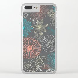 Grey Dreams Clear iPhone Case