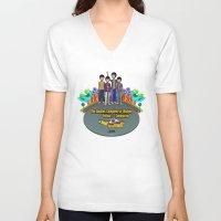yellow submarine V-neck T-shirts featuring Yellow Submarine by The Beatles Complete On Ukulele