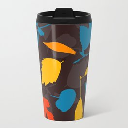 Seamless pattern with colorful autumn leaves Travel Mug