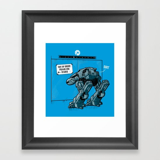 NOW WHAT? Framed Art Print