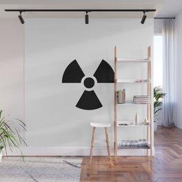 Radioactive signal, danger signal for warning Wall Mural