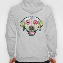 Labrador Retriever - Yellow Lab - Day of the Dead Sugar Skull Dog Hoody