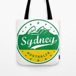 Sydney City, Australia, circle, green yellow Tote Bag
