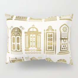 Moroccan Doors – Gold Palette Pillow Sham