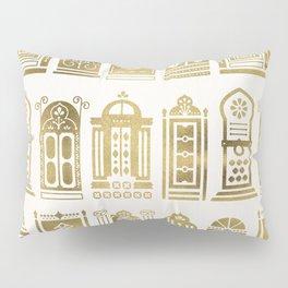 Moroccan Doors – Gold Palette Pillow Sham